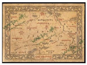 The Hobbit - East Farthing Map
